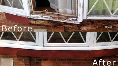Wooden window cosmetic repair