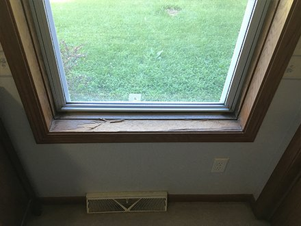 Restoration of a window sill