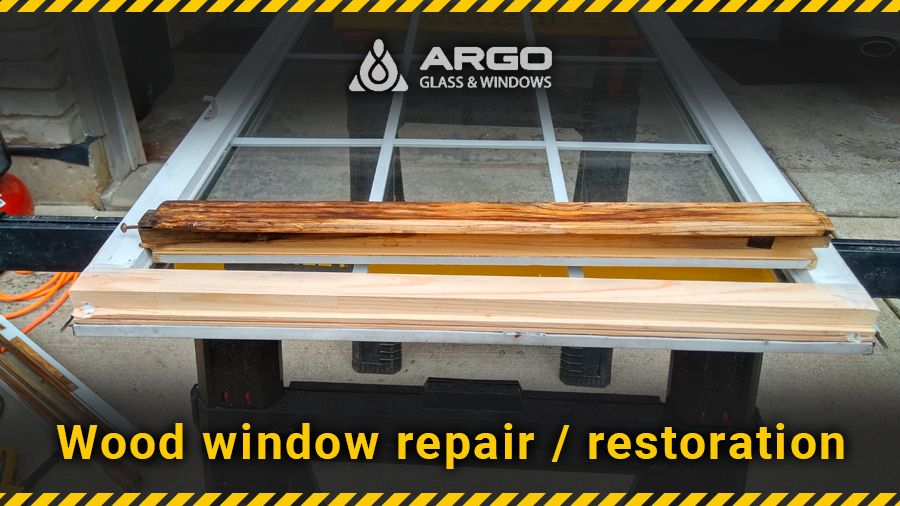 Wood window repair / restoration