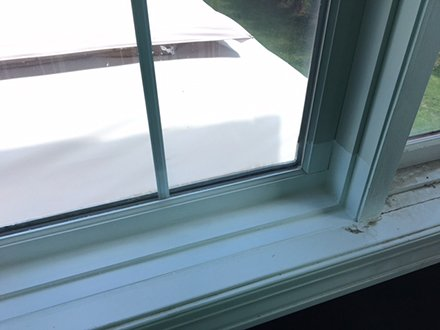 Repair of window frame