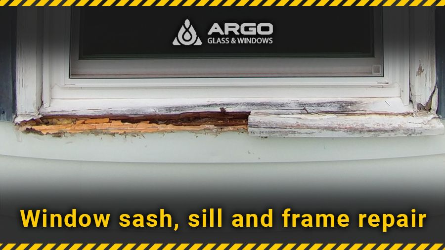 Window sash, sill and frame repair