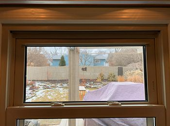 Wood Window Glass replacement